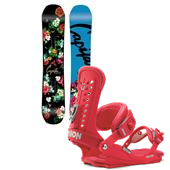 CAPiTA Birds Of A Feather Snowboard + Union Trilogy Bindings - Women's 2015