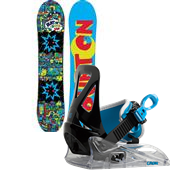 Burton Chopper Snowboard + Burton Grom Bindings - Kid's 2015