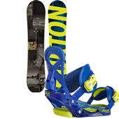Burton Process Smalls Snowboard + Mission Smalls Bindings - Boy's 2015