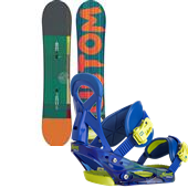 Burton Custom Smalls Snowboard + Mission Smalls Bindings - Boy's 2015