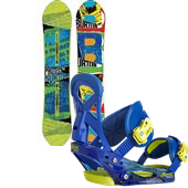 Burton Protest Snowboard + Mission Smalls Bindings - Boy's 2015
