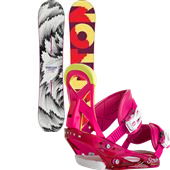 Burton Feelgood Smalls Snowboard + Scribe Smalls Bindings - Girl's 2015