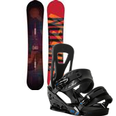 Burton Clash Snowboard + Freestyle Bindings 2015