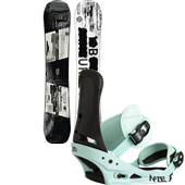 Burton Name Dropper Snowboard + Infidel Bindings 2015