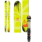 Salomon Rocker2 122 Skis + Guardian 16 Large Ski Bindings 2015