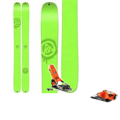 K2 Shreditor 136 Skis + Rossignol FKS 180 Ski Bindings 2015