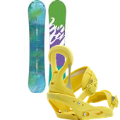Burton Feather Snowboard + Stiletto Bindings - Women's 2015