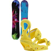Burton Social Snowboard + Stiletto Bindings - Women's 2015