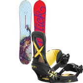 Burton Lip-Stick Snowboard + Lexa EST Bindings - Women's 2015