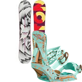 Burton Feelgood Flying V Snowboard + Escapade EST Bindings - Women's 2015