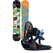 K2 Mini Turbo Snowboard + Mini Turbo Bindings - Boy's 2015