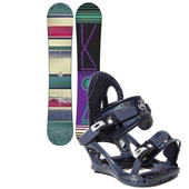 K2 First Light Snowboard + Charm Bindings - Women's 2015
