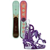 K2 Wowpow Snowboard + Cinch Tryst Bindings - Women's 2015