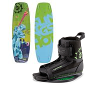 Slingshot Super Grom Wakeboard - Big Kids + Option Bindings 2015