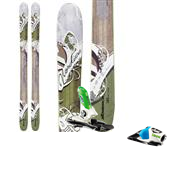 Nordica Wildfire Skis + Look PX 12 Bindings - Women's 2014