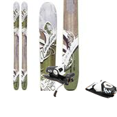 Nordica Wildfire Skis + Rossignol Freeski2 120 Bindings - Women's 2014