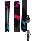 Volkl Aura Skis - Women's + Salomon Z12 Ski Bindings 2015