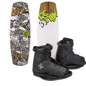 Ronix El Von Videl Schnook Wakeboard + Divide Bindings - Big Boy's 2015