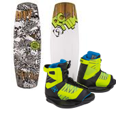 Ronix El Von Videl Schnook Wakeboard + Vision Bindings - Big Boys' 2015