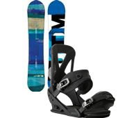 Burton Custom Flying V Snowboard + Burton Mission Snowboard Bindings 2014