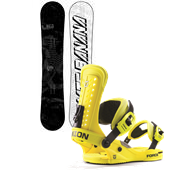 Lib Tech Skate Banana BTX Snowboard - Blem + Union Force Snowboard Bindings 2014