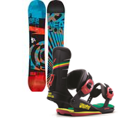 K2 WWW (World Wide Weapon) Rocker Snowboard + Union Contact Snowboard Bindings 2014