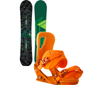 Burton Process Flying V Snowboard + Burton Cartel Snowboard Bindings 2014
