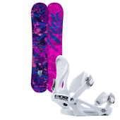 Ride Baretta Snowboard - Women's + Ride LXH Snowboard Bindings - Women's 2014