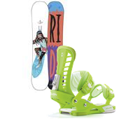 Ride Buck Up Snowboard + Union Atlas Snowboard Bindings 2014