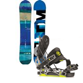 Burton Custom Flying V Snowboard + Flow NX2-GT Snowboard Bindings 2014