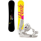 Rome Romp Snowboard - Women's + Flow Gem-SE Snowboard Bindings - Women's 2014