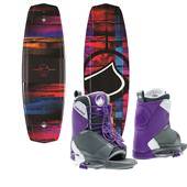 Liquid Force Jett Wakeboard + Transit Wakeboard Bindings - Women's 2015