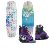 Liquid Force Angel Wakeboard + Plush Wakeboard Bindings - Women's 2015