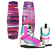 Hyperlite Eden 2.0 Wakeboard + Remix Jr. Wakeboard Bindings - Big Girls' 2015
