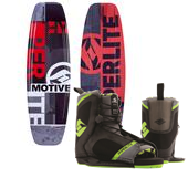 Hyperlite Motive Wakeboard - Big Boys' + Remix Wakeboard Bindings 2015