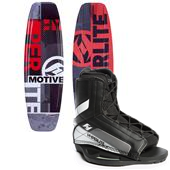 Hyperlite Motive Wakeboard - Big Boys' + Remix Jr. Wakeboard Bindings - Big Boys' 2015