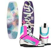 Hyperlite Divine Wakeboard - Big Girls' + Remix Jr. Wakeboard Bindings - Big Girls' 2015