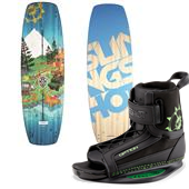 Slingshot Terrain Wakeboard + Option Wakeboard Bindings 2015