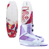 CWB Lotus Wakeboard - Women's 2013 + Hyperlite Jinx Wakeboard Bindings - Women's 2014