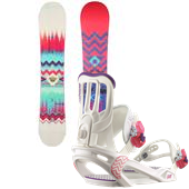Salomon Lotus Snowboard + Spell Bindings - Women's 2015
