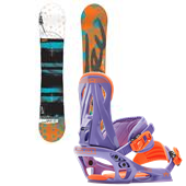 Nitro Lectra Bright Snowboard + Rome Shift Bindings - Women's 2015