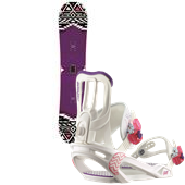 Salomon Spark Snowboard + Spell Bindings - Women's 2015