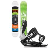 Flow Merc Bright Snowboard + Flite Bindings 2015
