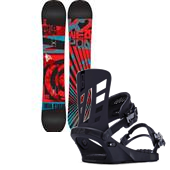 K2 WWW (World Wide Weapon) Rocker Snowboard + Company Bindings 2014