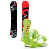 Never Summer Cobra Snowboard + Union Atlas Bindings 2014