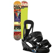 Ride Kink Snowboard + Burton Freestyle Bindings 2014