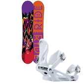 Ride OMG Snowboard + LXH Bindings - Women's 2014