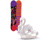 Ride OMG Snowboard + Union Flite Lady Bindings - Women's 2014