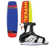 Hyperlite B-Side Wakeboard + Remix Wakeboard Bindings 2013