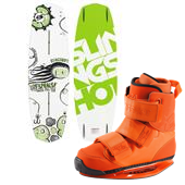 Slingshot Response Wakeboard + Shredtown Wakeboard Bindings 2014